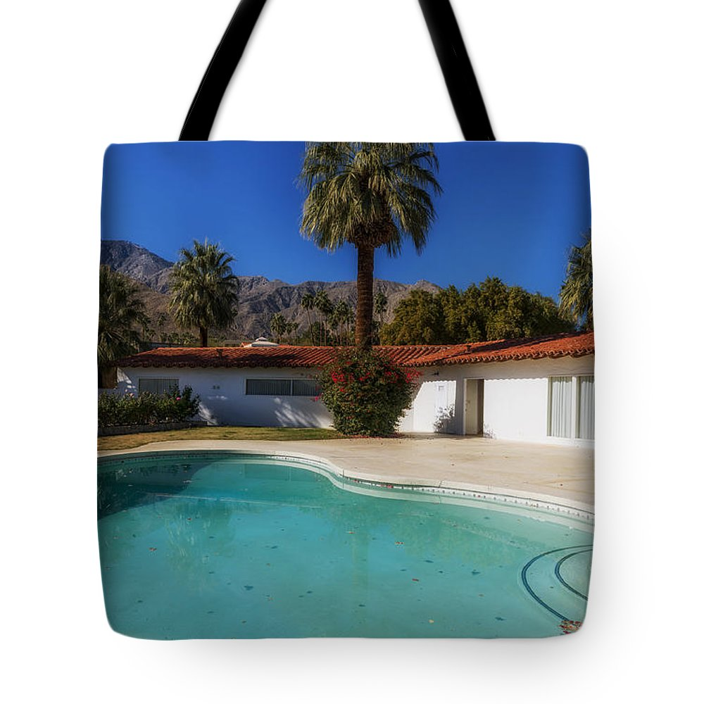 Palm Springs Tote Bag featuring the photograph Elvis Presley's Palm Springs Home by Mountain Dreams