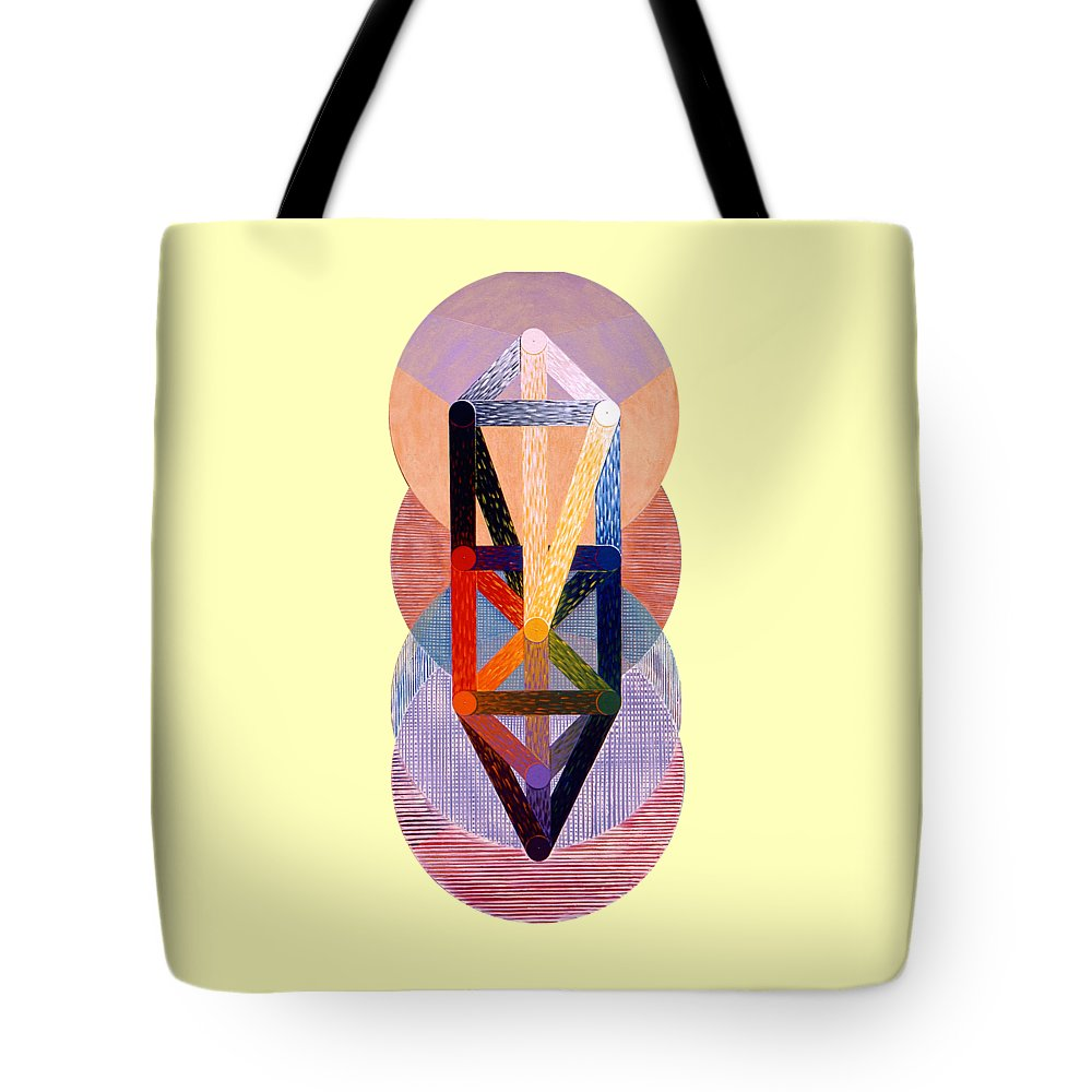 Painting Tote Bag featuring the painting Emanations by Michael Bellon