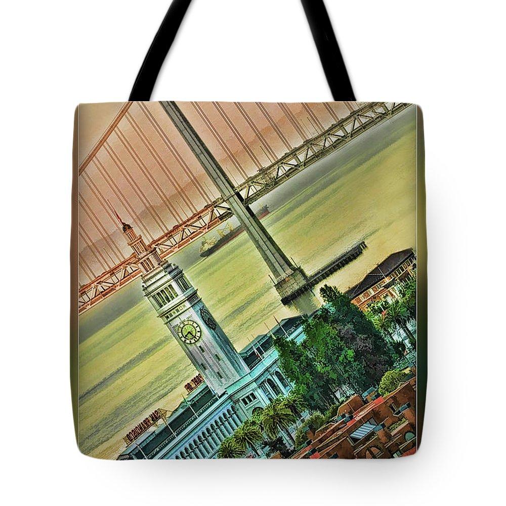 San Francisco Tote Bag featuring the photograph Embarcadero Horizon by Blake Richards