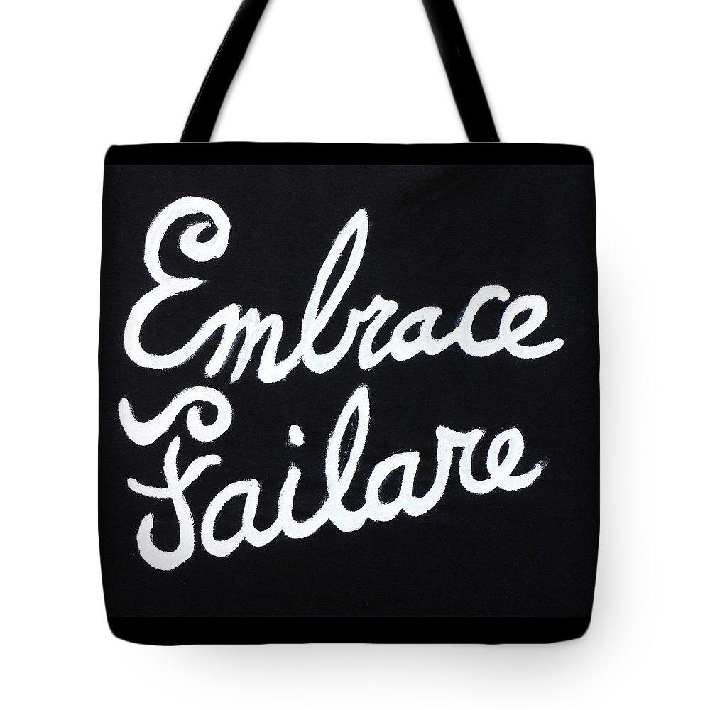 Failure Tote Bag featuring the painting Embrace Failare by John Kilduff