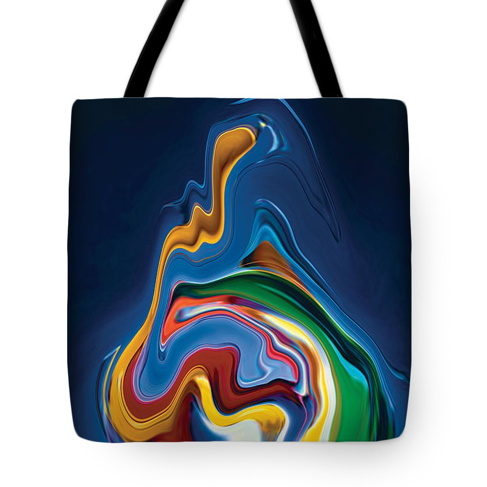 Tote Bag featuring the digital art Embrace by Rabi Khan