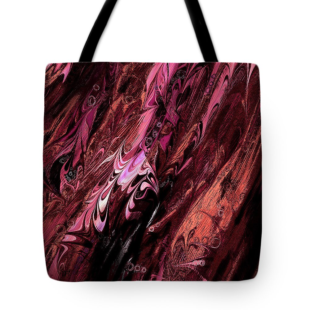 Abstract Tote Bag featuring the digital art Embryos by Rachel Christine Nowicki