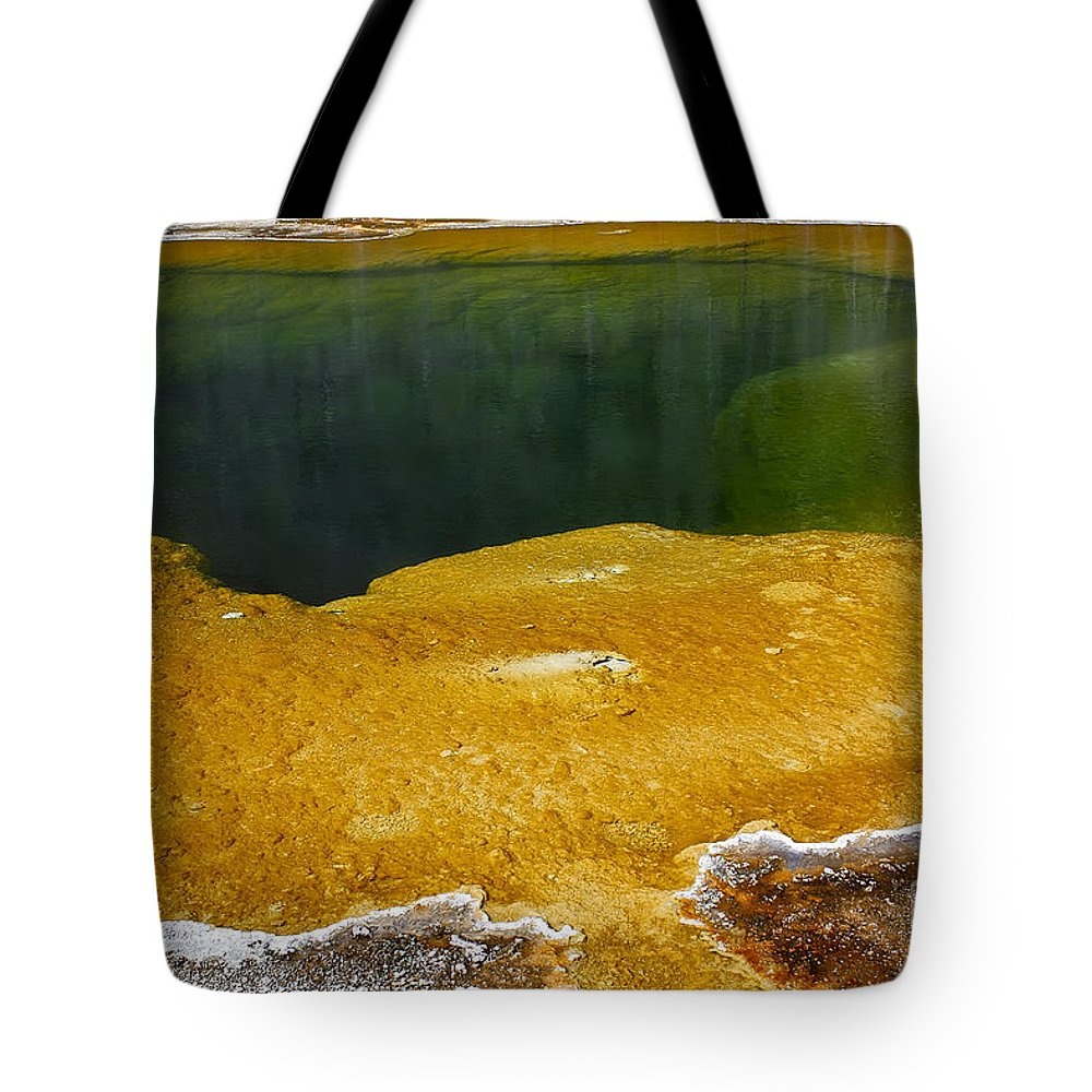 Hot Spring Tote Bag featuring the photograph Emerald Pool Yellowstone National Park by Teresa Zieba
