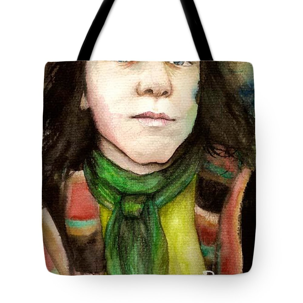 Boy Tote Bag featuring the drawing Emil by Freja Friborg