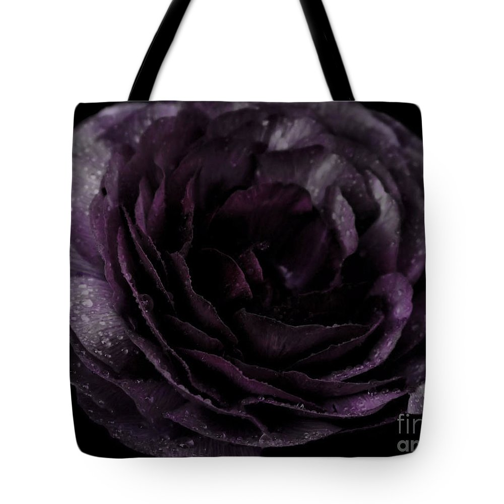 Purple Tote Bag featuring the photograph Emily's Great Ant Thingy Flower..... by September Stone
