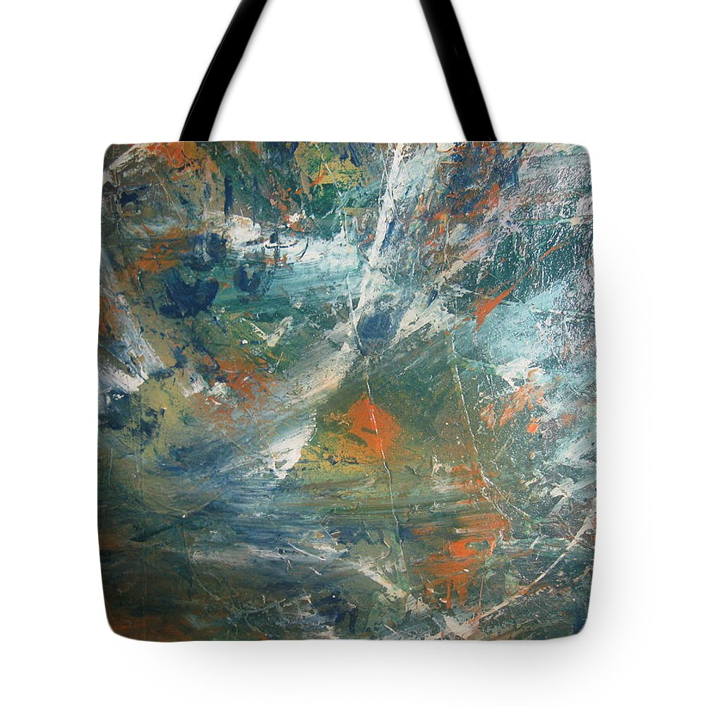 Non Duality Tote Bag featuring the painting Emotional Deluge by Paula Andrea Pyle