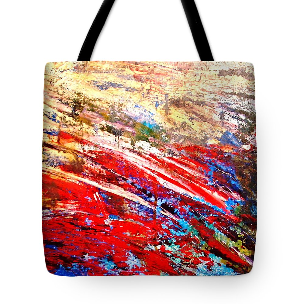 Expressionism Tote Bag featuring the painting Emotional Explosion by Natalie Holland