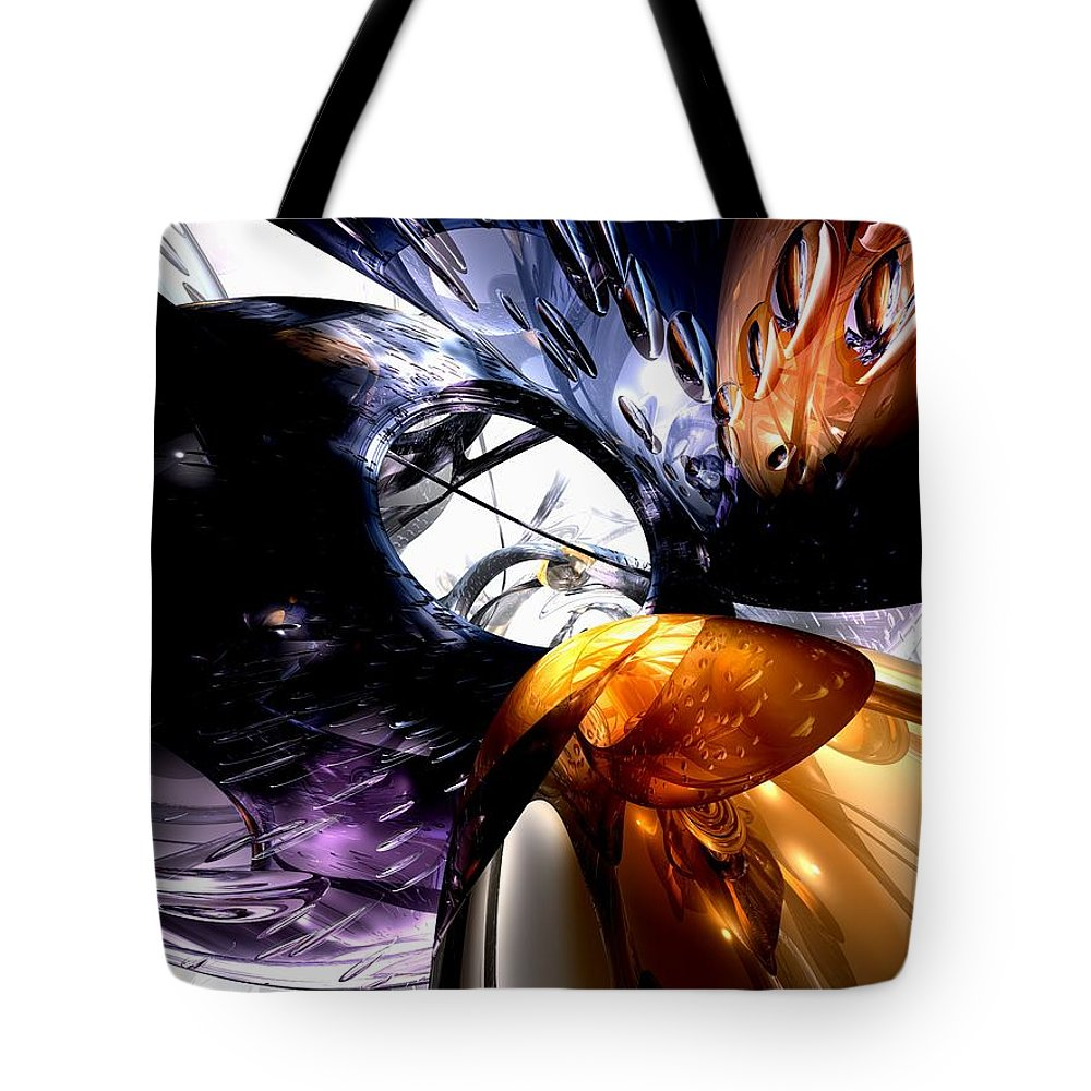 3d Tote Bag featuring the digital art Emotional Scars Abstract by Alexander Butler
