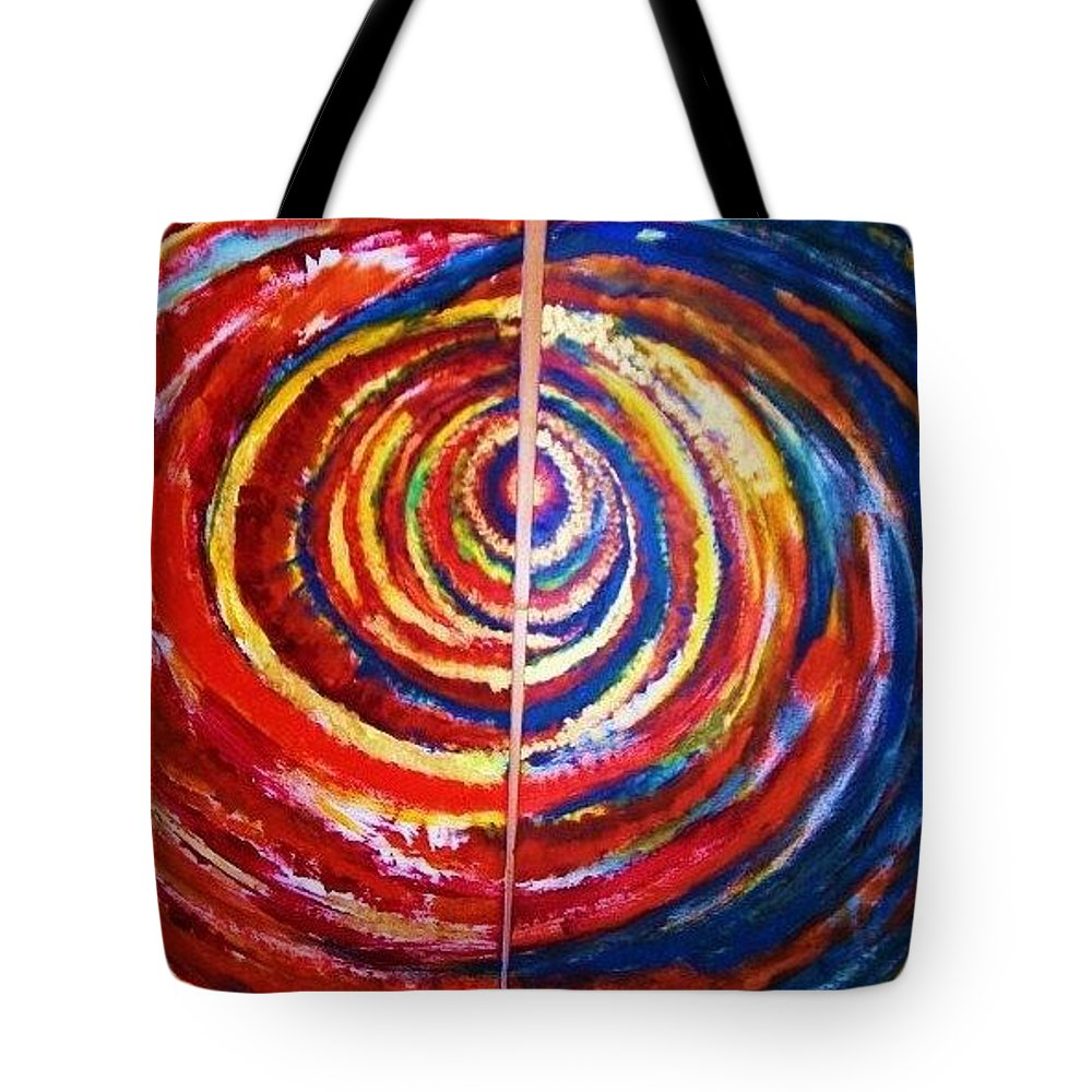 Original Art Tote Bag featuring the painting Emotional Whirl by Rae Chichilnitsky
