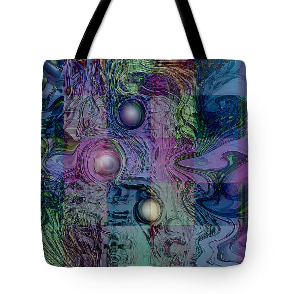 Emotions Block Tote Bag featuring the digital art Emotions Block by Linda Sannuti