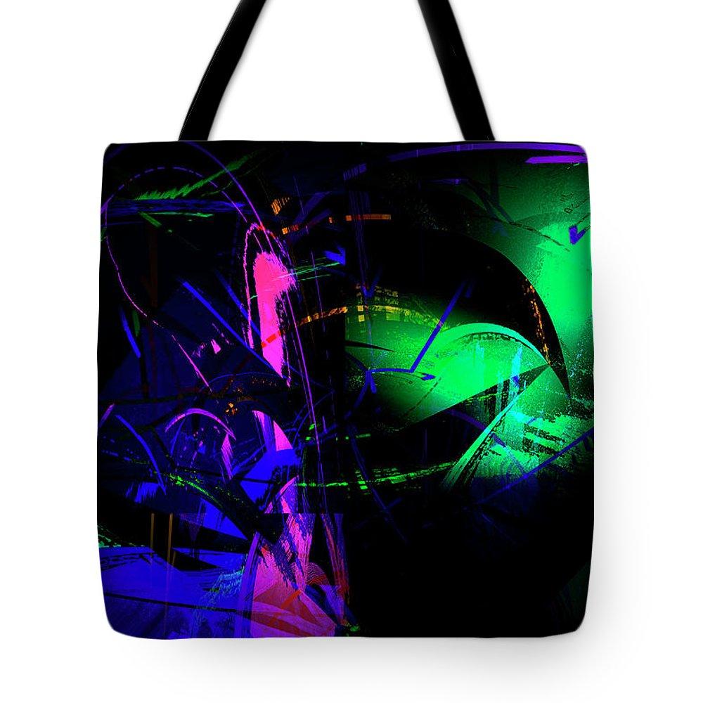 Abstract Tote Bag featuring the digital art Emotions by Gerlinde Keating - Galleria GK Keating Associates Inc