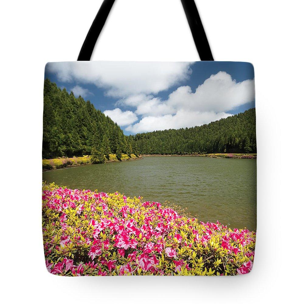 Portugal Tote Bag featuring the photograph Empadadas Lakes II by Gaspar Avila