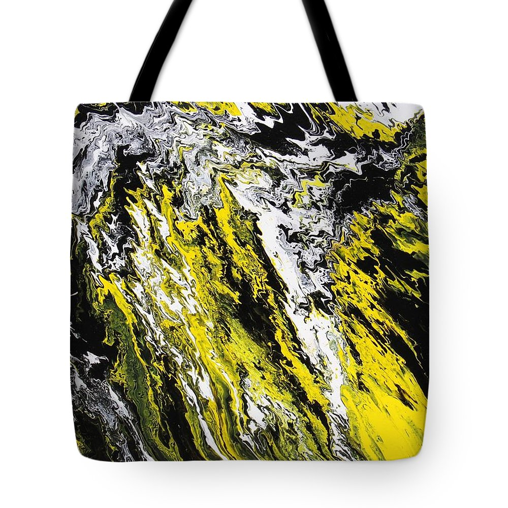 Abstract Tote Bag featuring the painting Emphasis by Ralph White