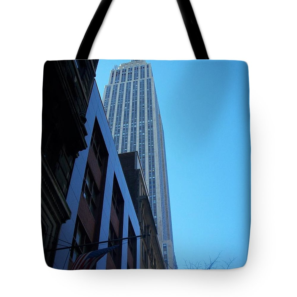 Emoire State Building Tote Bag featuring the photograph Empire State 1 by Anita Burgermeister
