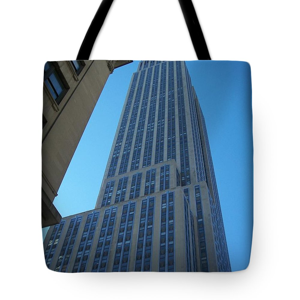 Emoire State Building Tote Bag featuring the photograph Empire State 2 by Anita Burgermeister