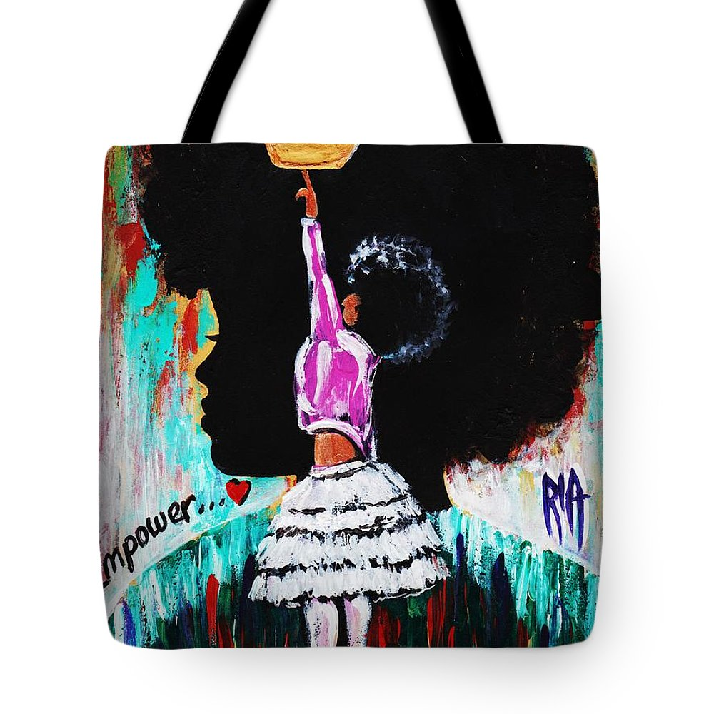 Artbyria Tote Bag featuring the photograph Empower by Artist RiA