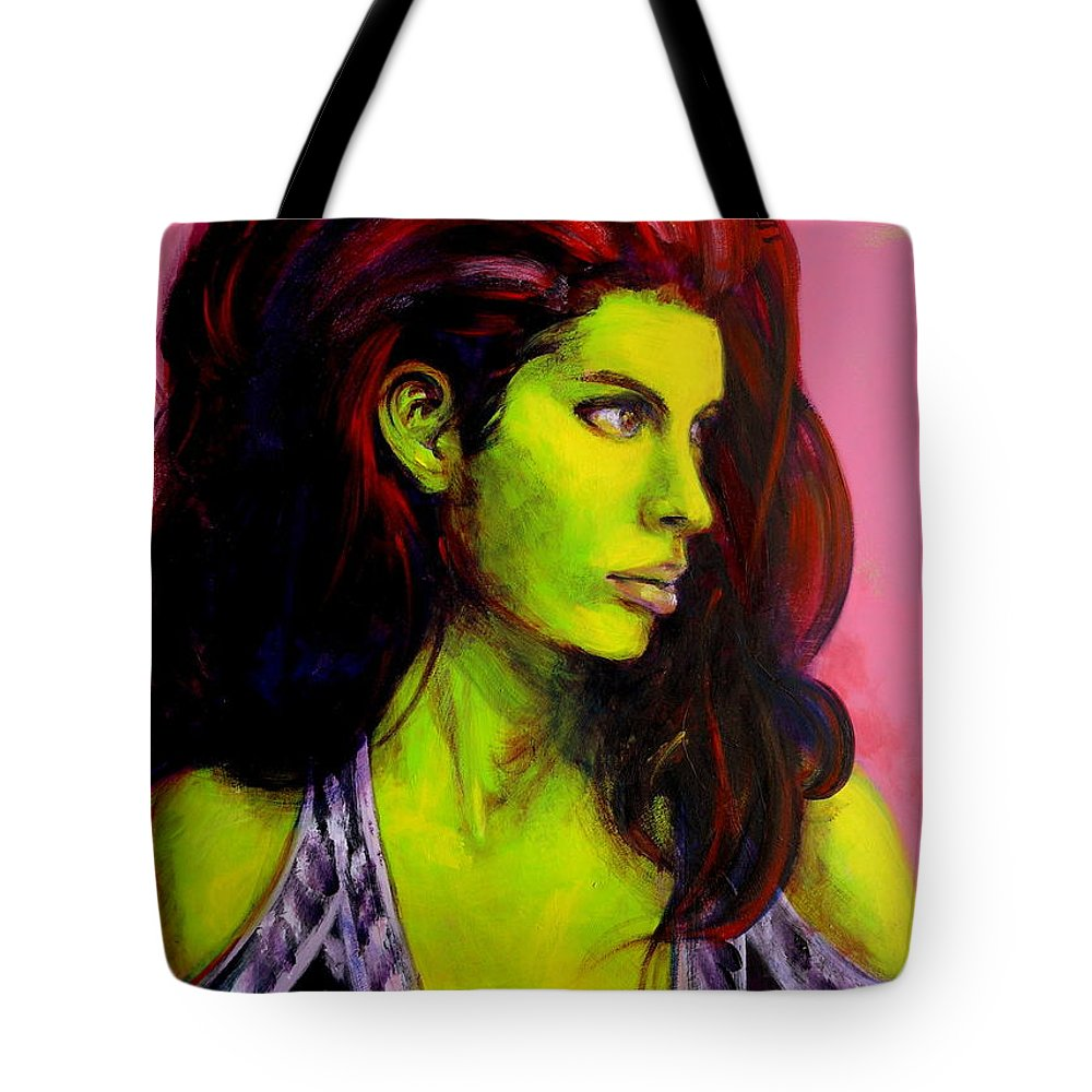 Girl Tote Bag featuring the painting Empress At Rest by Jason Reinhardt