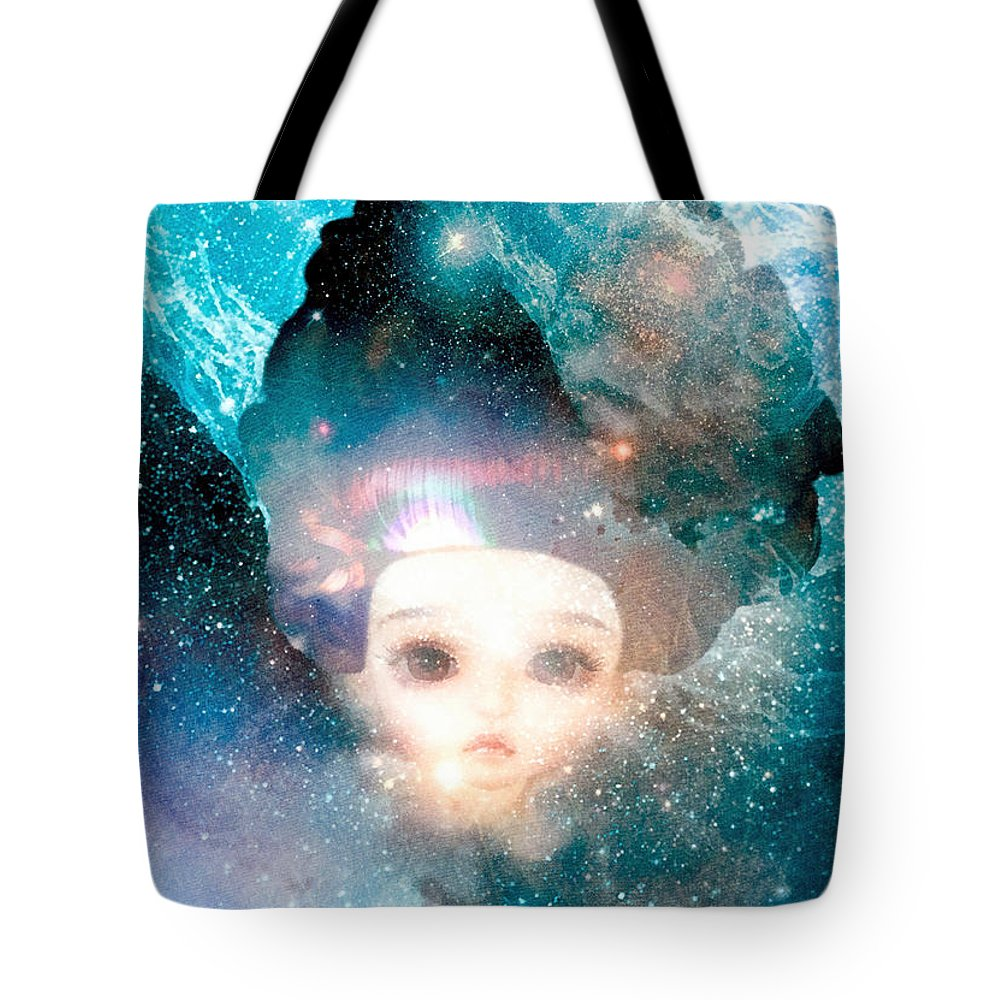 Empress Tote Bag featuring the painting Empress by Mo T
