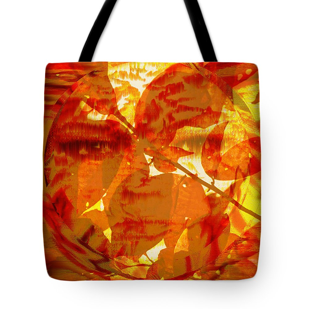 Oriental Tote Bag featuring the digital art Empress Of The Sun by Seth Weaver