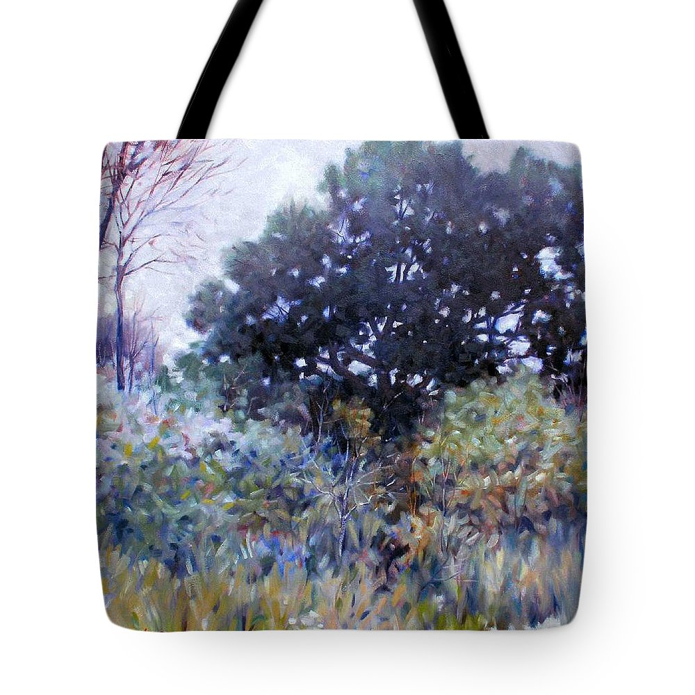 Landscape Tote Bag featuring the painting Empty Lot by Kevin Lawrence Leveque
