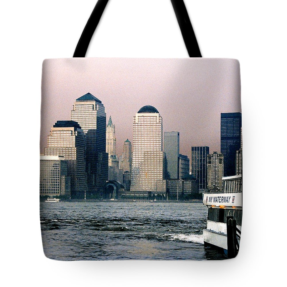 New York Tote Bag featuring the photograph Empty Sky by Steve Karol
