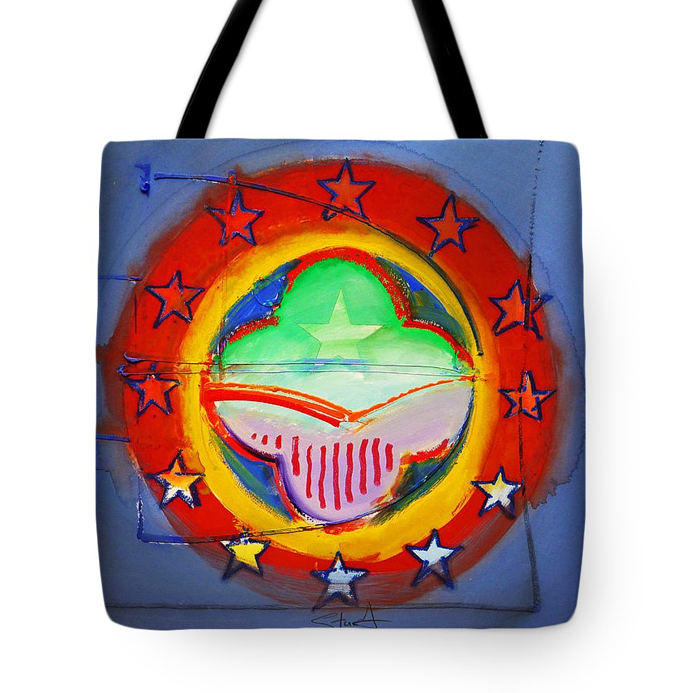 Symbol Tote Bag featuring the painting EMU by Charles Stuart