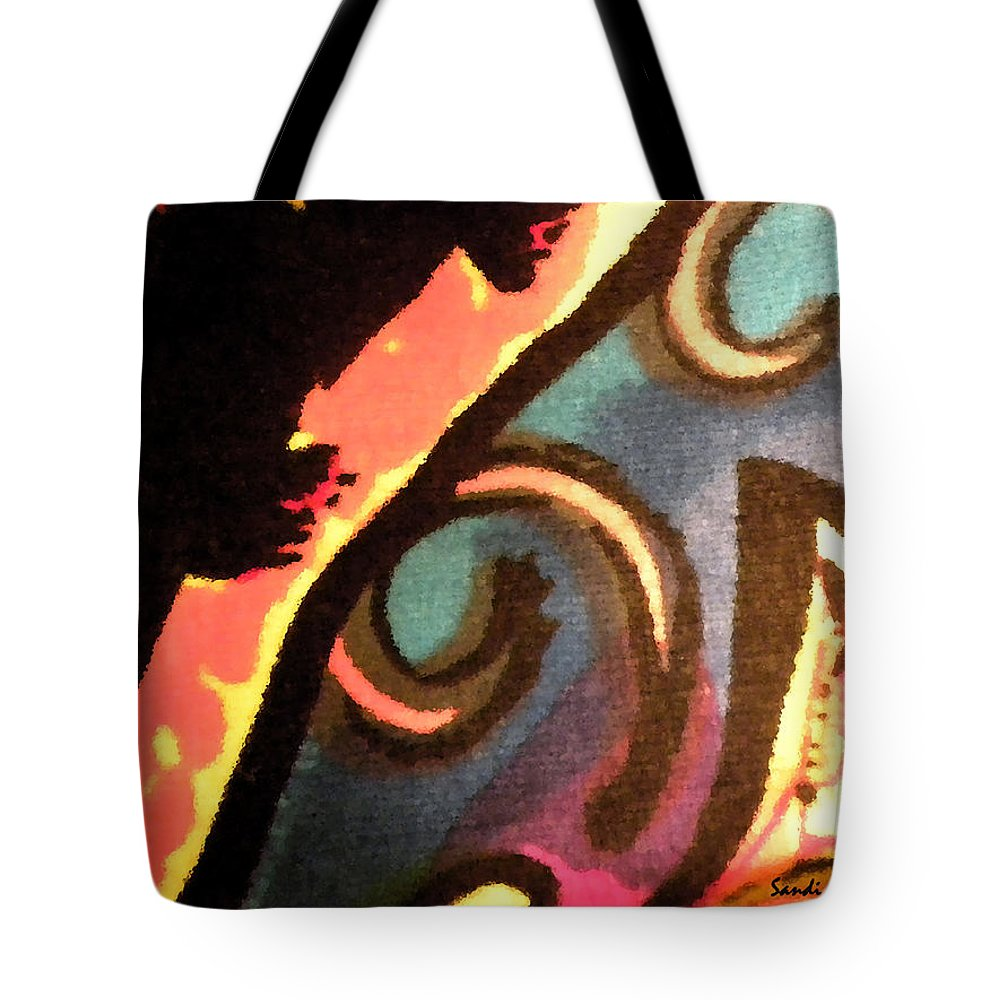 Abstract Tote Bag featuring the mixed media En Joy Ll by Sandi OReilly