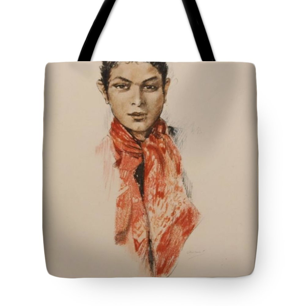 Edouard Chimot Tote Bag featuring the painting En Provence by Celestial Images