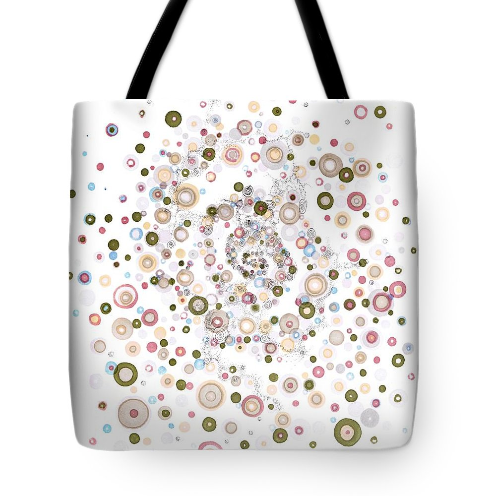 Chiral Tote Bag featuring the drawing Enantiomeric Excess by Regina Valluzzi