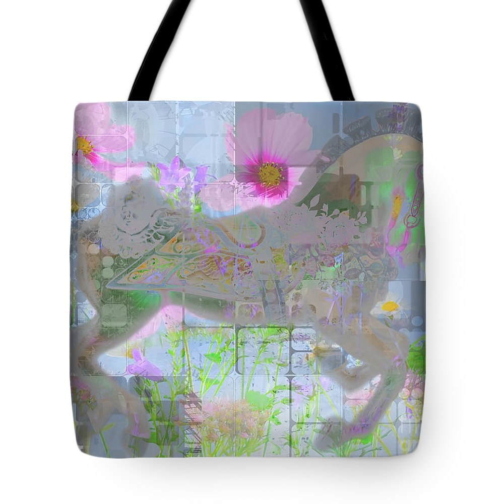 Children Tote Bag featuring the digital art Enchanted 2015 by Kathryn Strick