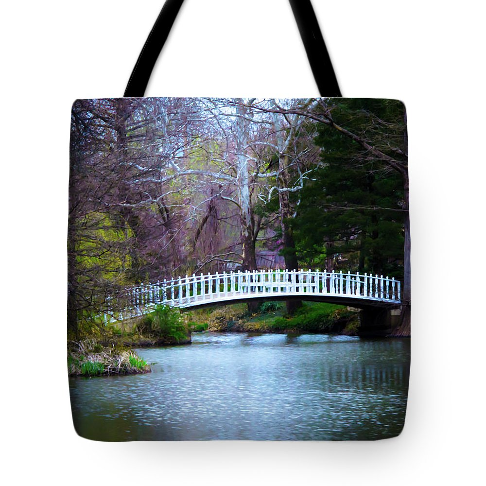 Nature Tote Bag featuring the photograph Enchanted Bridge by Steve Marler