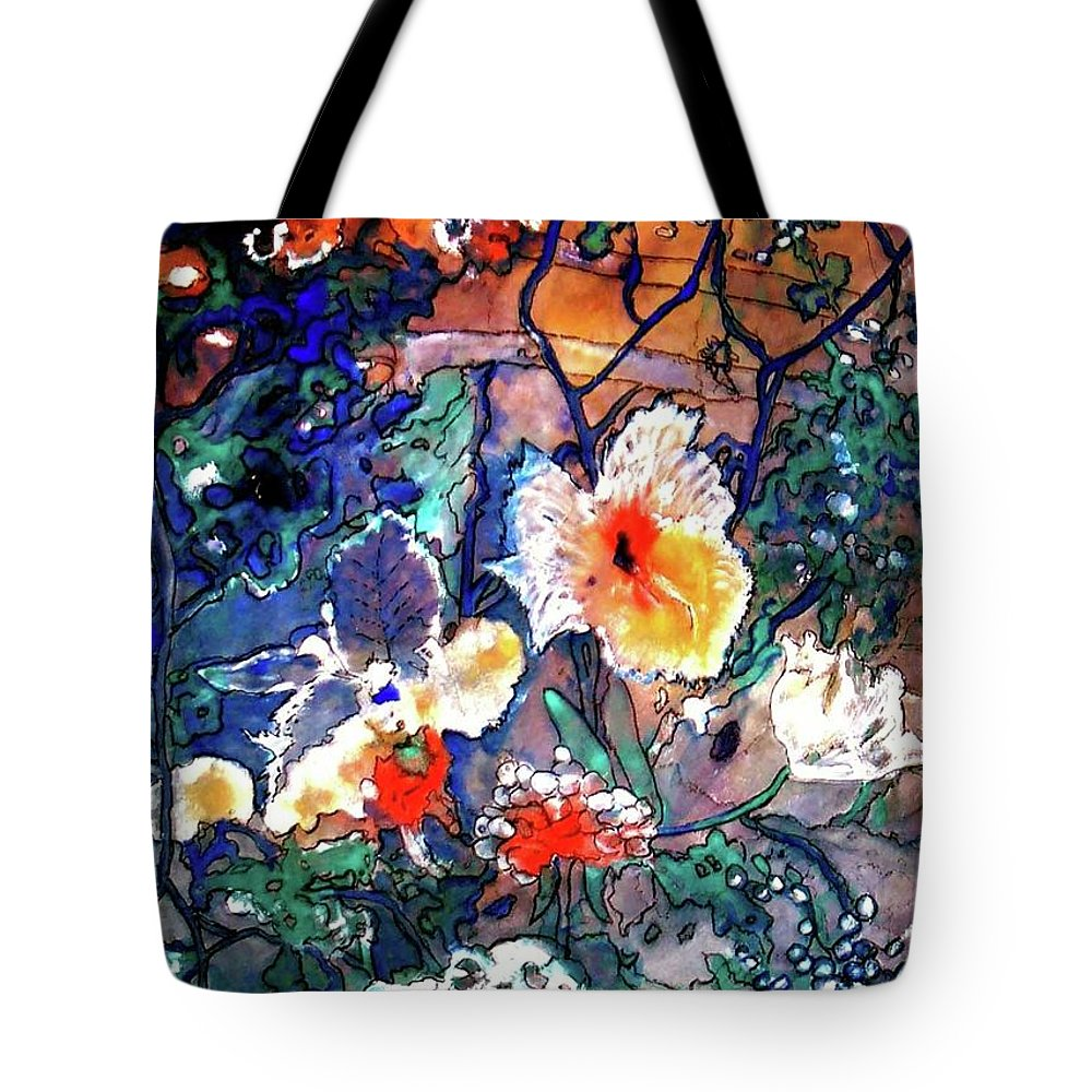 Landscape Tote Bag featuring the painting Enchanted Garden by Norma Boeckler