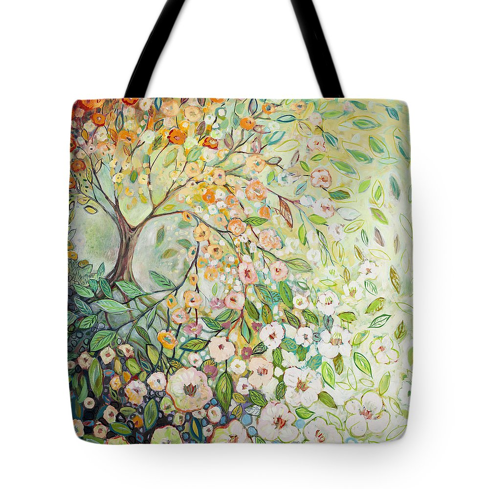 Tree Tote Bag featuring the painting Enchanted by Jennifer Lommers