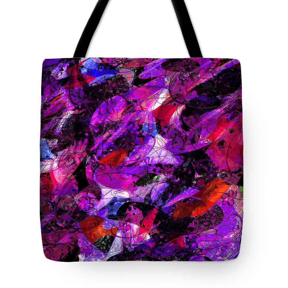 Abstract Tote Bag featuring the digital art Enchanted Tales by Rachel Christine Nowicki