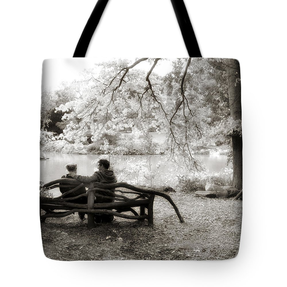 Infrared Tote Bag featuring the photograph Enchantment by Jessica Jenney