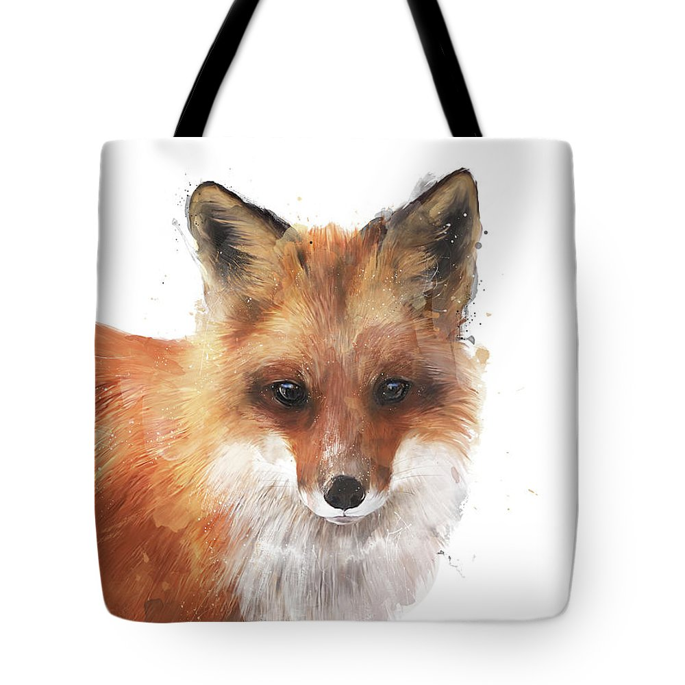 Fox Tote Bag featuring the painting Encounter by Amy Hamilton