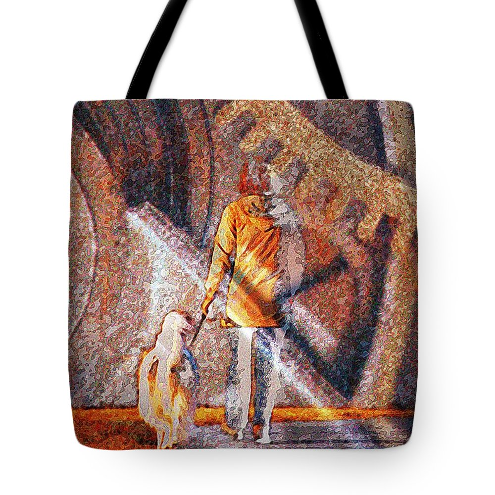 Dog Tote Bag featuring the photograph Encounter With Destiny... by Arthur Miller