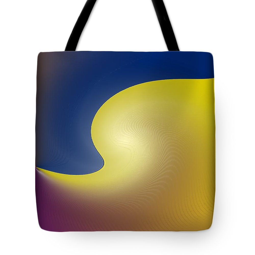 Abstract Tote Bag featuring the digital art Encroaching by Ian MacDonald