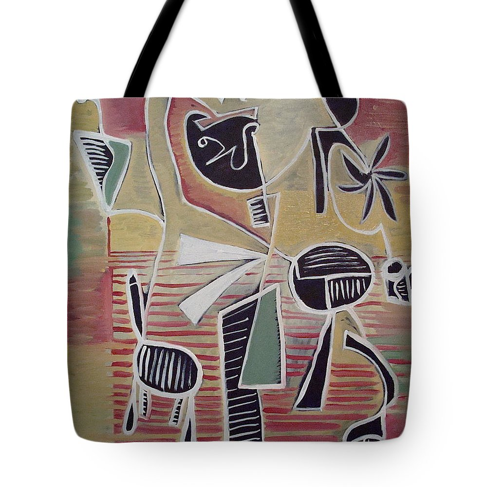 Abstract Tote Bag featuring the painting End Cup by W Todd Durrance