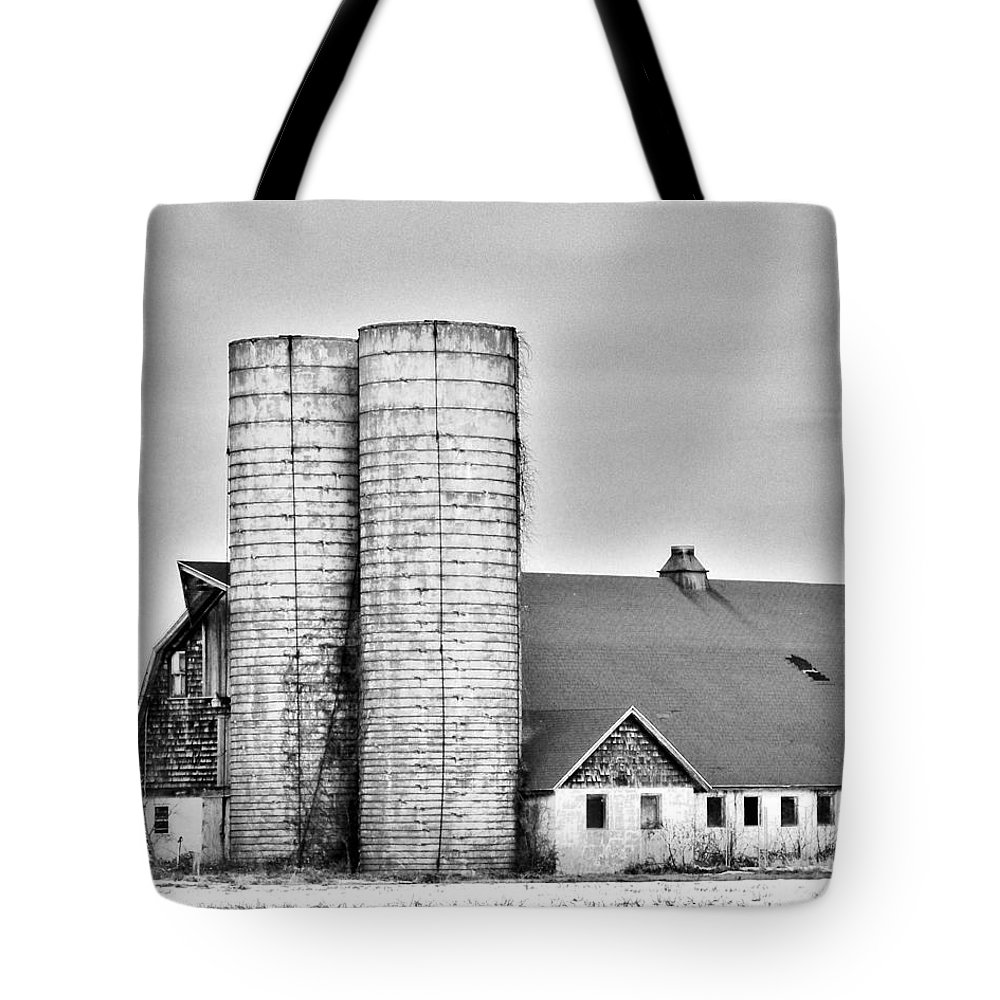 Farm Tote Bag featuring the photograph End Of An Era by Kim Bemis
