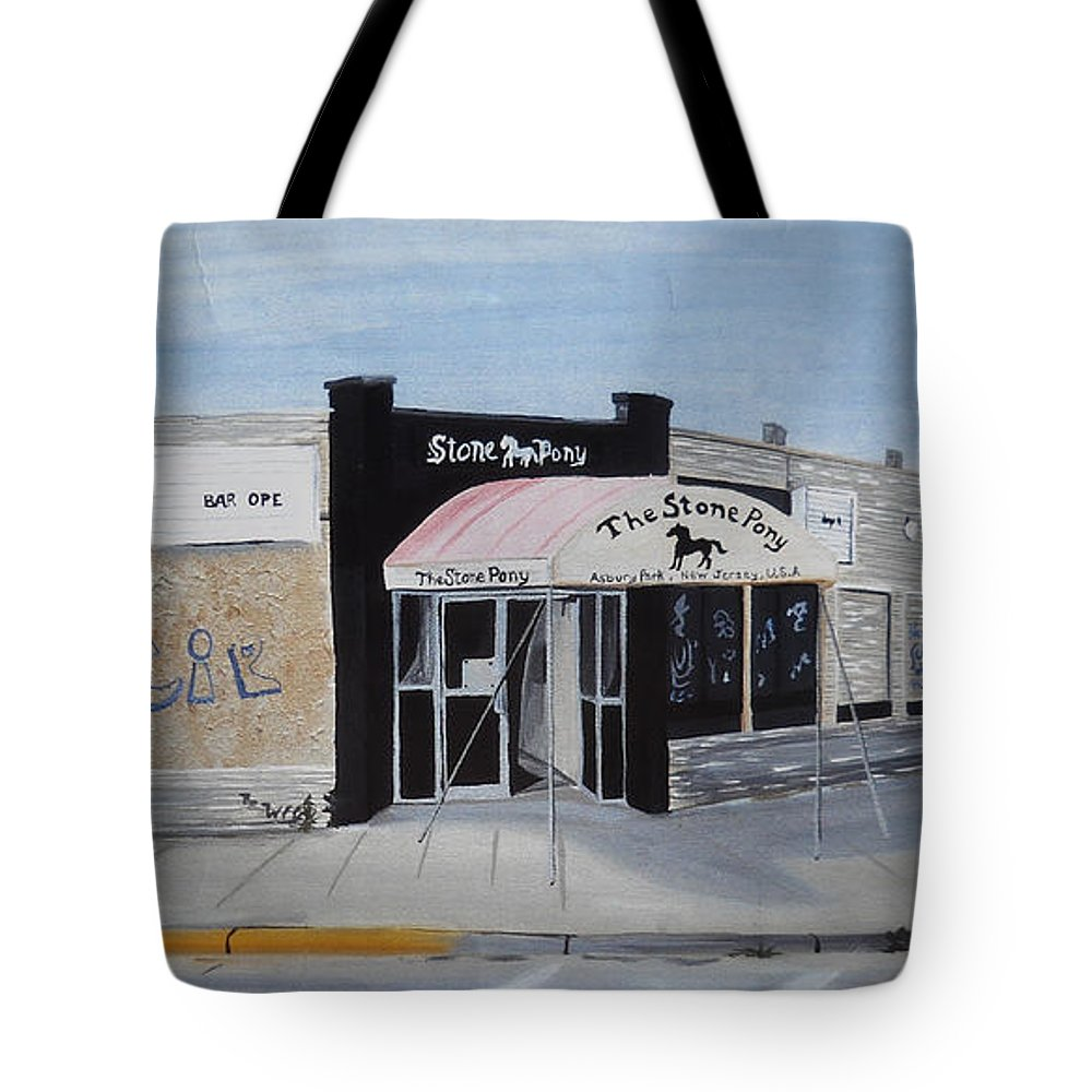Acrylic Painting Of The Stone Pony Tote Bag featuring the painting End Of An Era by Patricia Arroyo