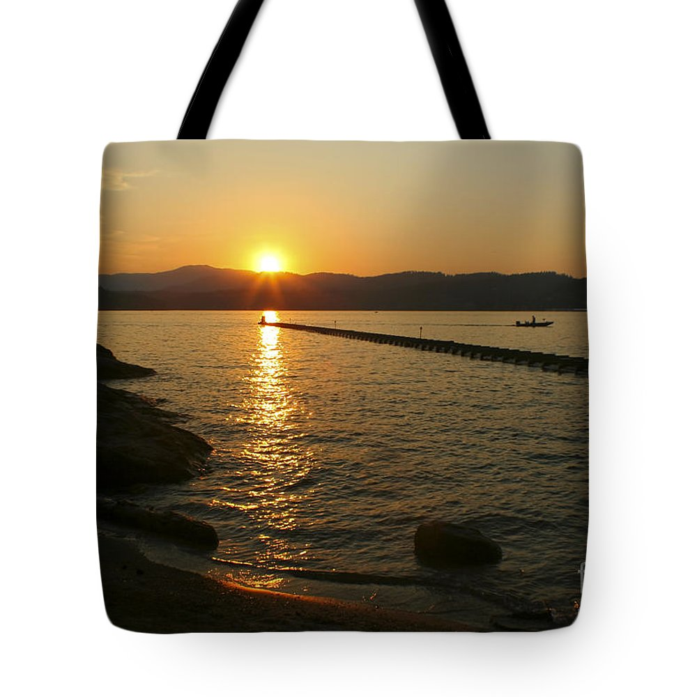 Sunset Tote Bag featuring the photograph End Of Summer by Idaho Scenic Images Linda Lantzy