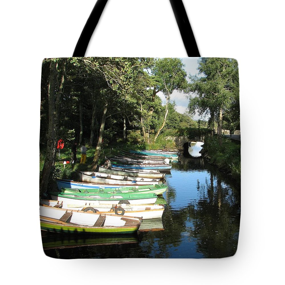 Boat Tote Bag featuring the photograph End Of The Day by Kelly Mezzapelle