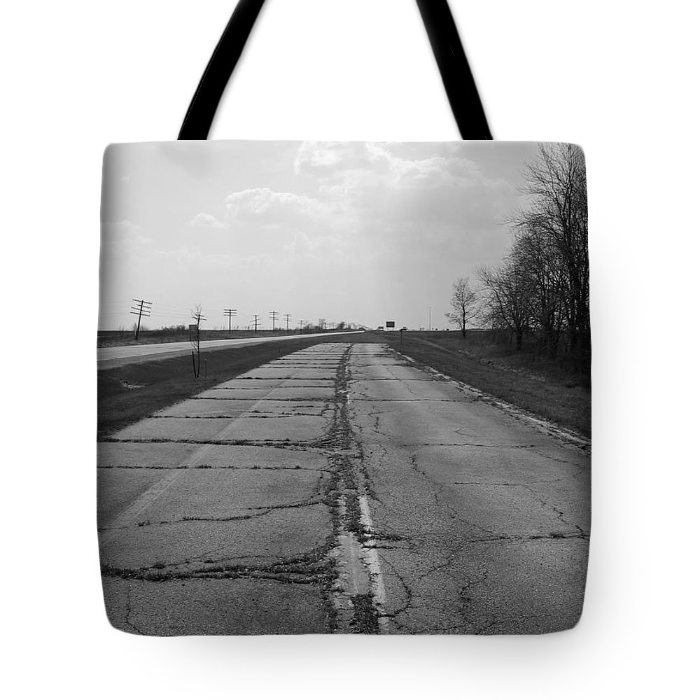 Landscape Tote Bag featuring the photograph End Of The Road by Dylan Punke
