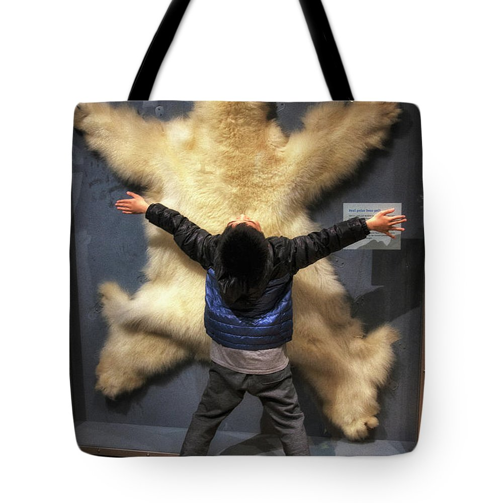 Polar Bear Tote Bag featuring the photograph Endangered Species by Davy Cheng