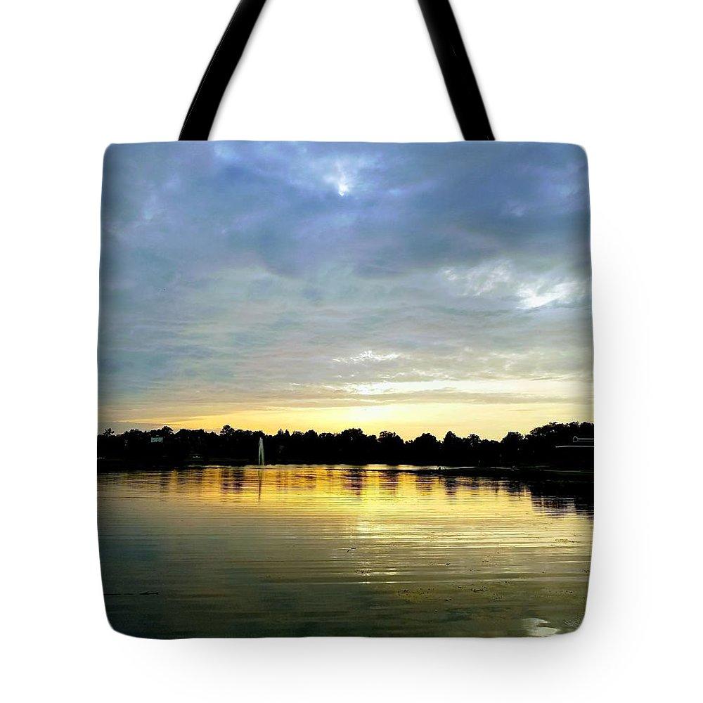 Edinboro Tote Bag featuring the photograph Edinboro Lake by Michael Hills