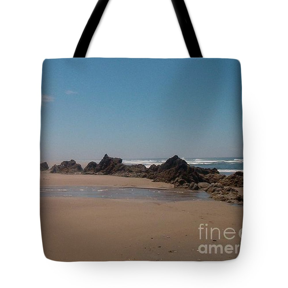 Beach Tote Bag featuring the photograph Endless Beach by Charles Robinson