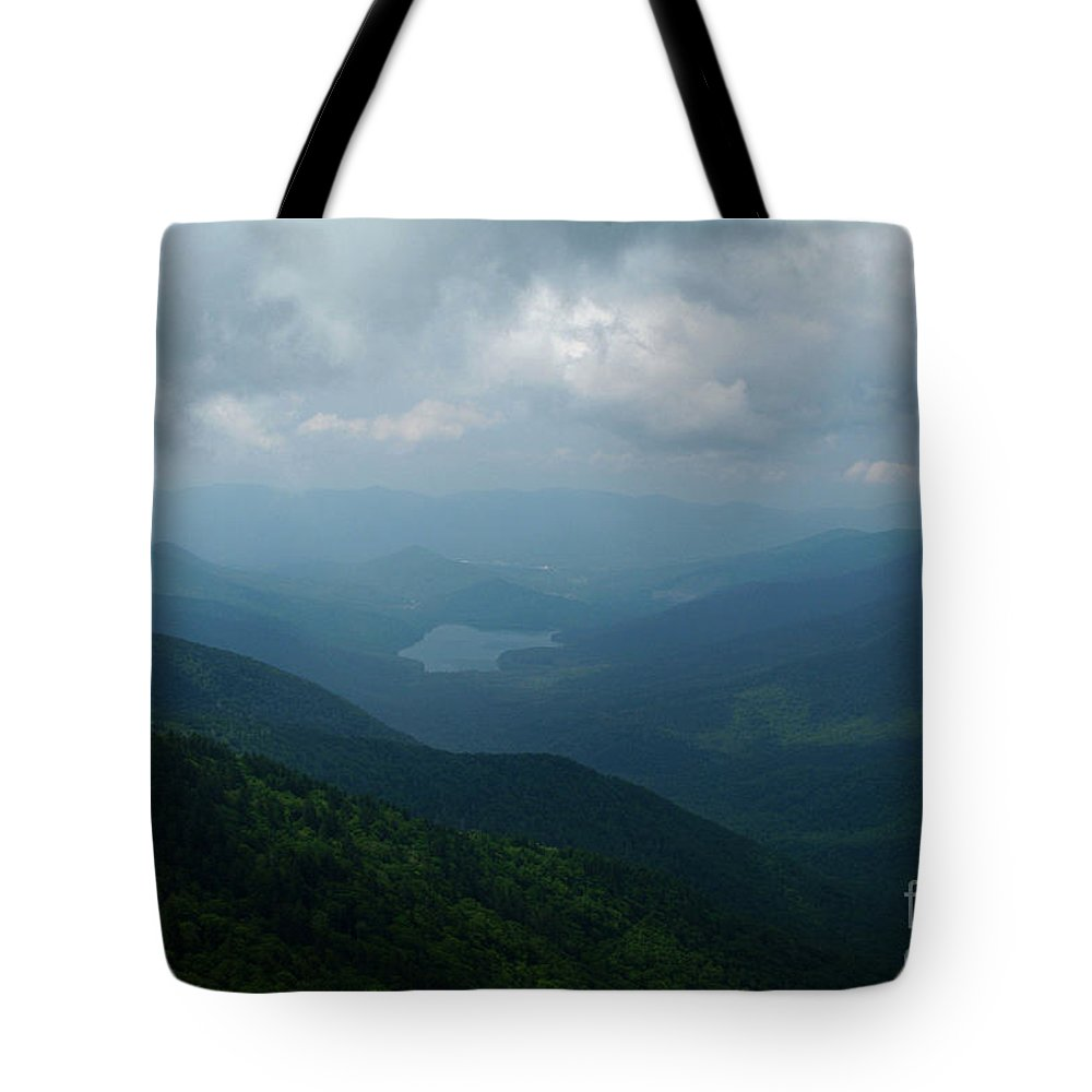 Mountain Mitchell State Park Tote Bag featuring the photograph Endless Parkway by Christal Randolph
