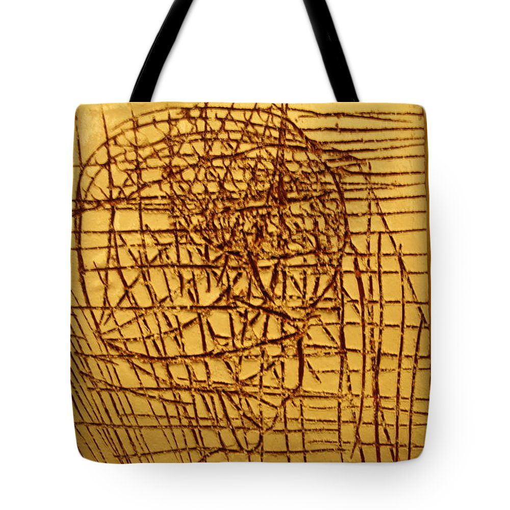 Jesus Tote Bag featuring the ceramic art Endurance - Tile by Gloria Ssali
