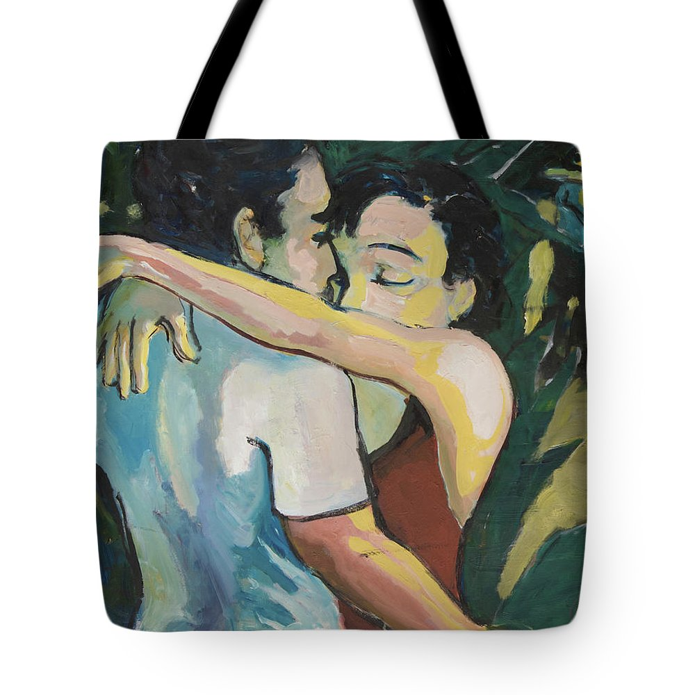Couples Tote Bag featuring the painting Enduring Love by Craig Newland